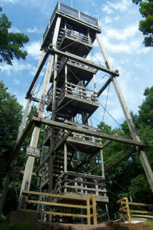 The lookout tower on Timms Hill, Wisconsin.