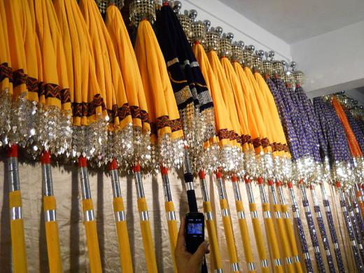 Decorative Umbrellas (for elephants) used for 'Kudamattom'
