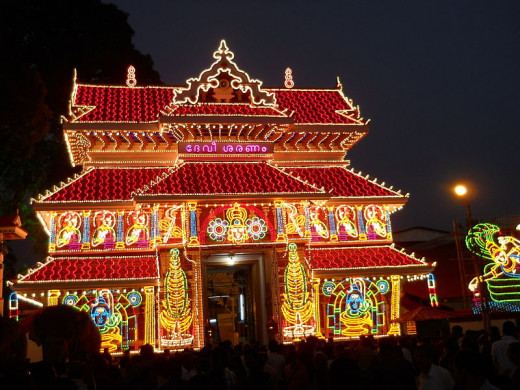 What a splendid view of the temple, where Pooram held