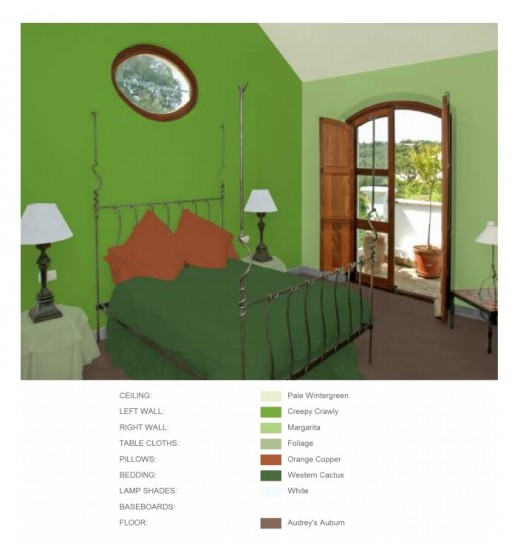 Bedroom - color blends