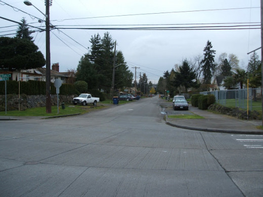 Looking South at the Intersection of 46th and Othello in the Rainier Valley