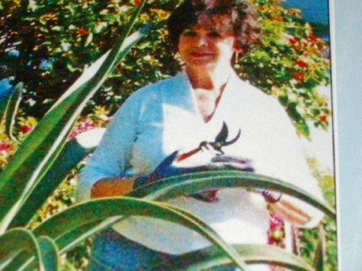 My mom, Master Gardener and board member of Mounts Botanical Group