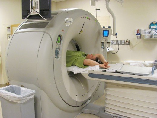 Me getting one of many cat scans.