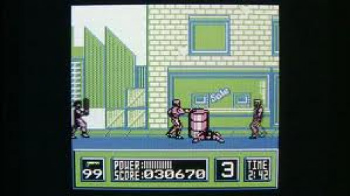 Robocop for the Nintendo Gameboy is based loosely on the movie with the same title. You use kicks, punches and of course the huge pistol.