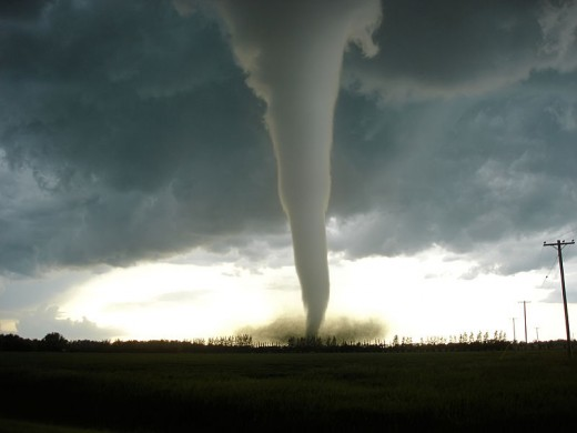 Tornadoes in dreams can indicate feeling sucked up into the whirlwind of life.