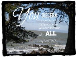 Psalm 139:3 art design