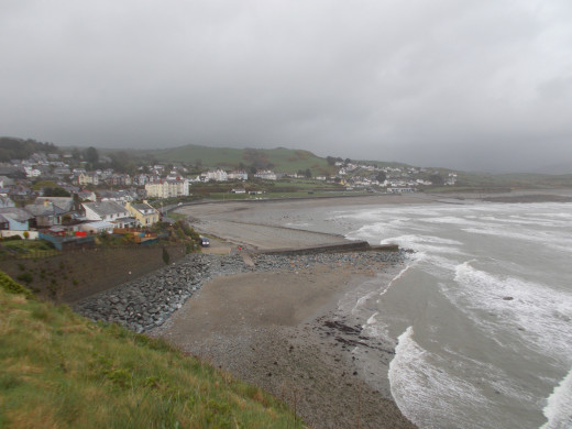 View of Criccieth from Criccieth Castle