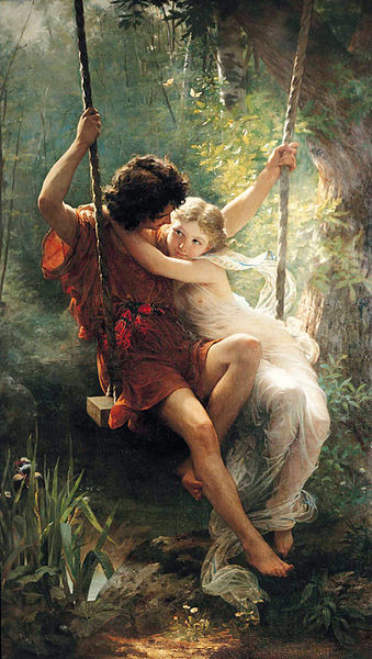 """""""Lovers"""" by Pierre Auguste Cot, 1873"""