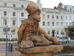 The Mad Hatter and the Door Mouse in Llandudno