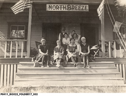 North Breeze Cottage on Lake Manitou in the 1920a