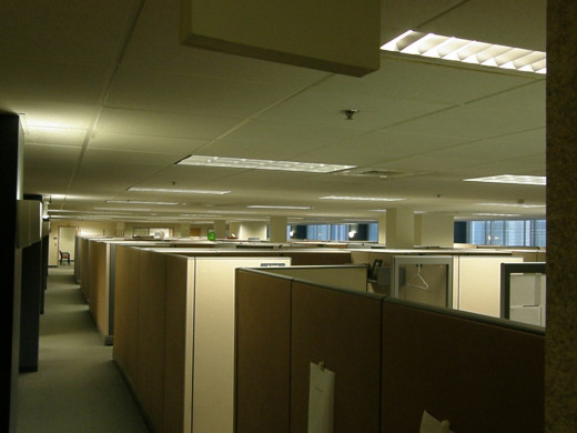 Is this your view every day in the office? That kind of boredom can get depressing, but can be overcome!