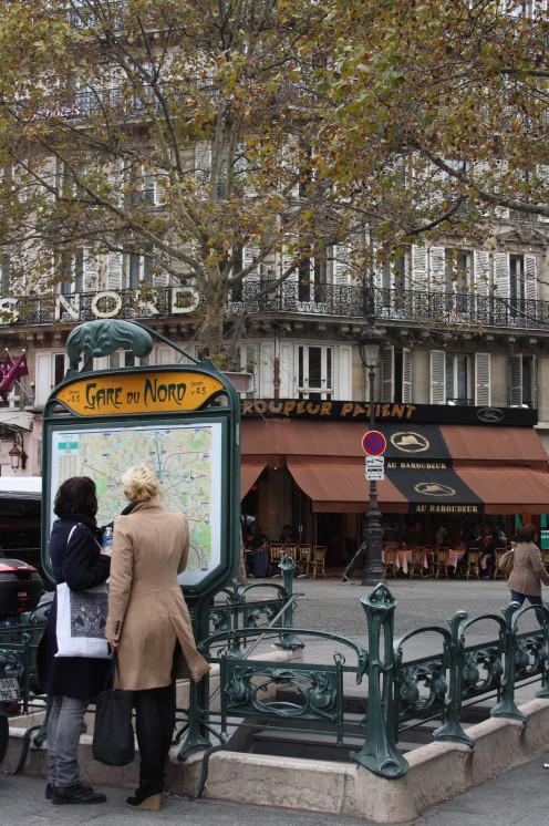 Gare du Nord Metro Station, Place Napoléon III, Paris