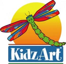 The Kidz Art Logo is bright,cheerful and imaginative