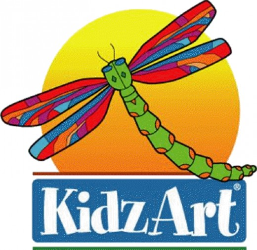 The Kidz Art Logo is bright,cheerful and imaginative