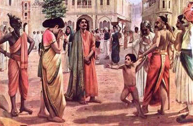 A scene from the story of Harischanra.