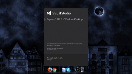 Start Screen for Visual Studio Express 2012 for Windows Desktop.
