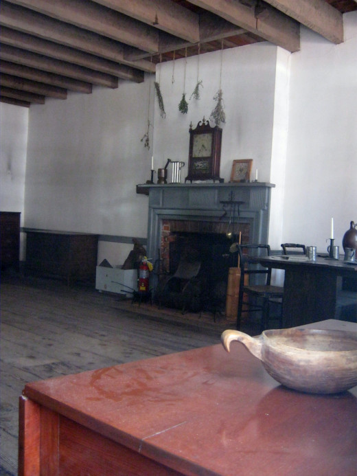 Fireplace of the original capital building
