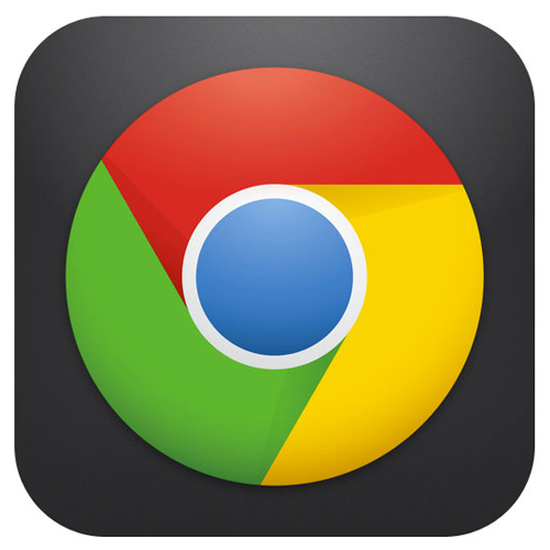 Google Chrome for iPhone 5 logo