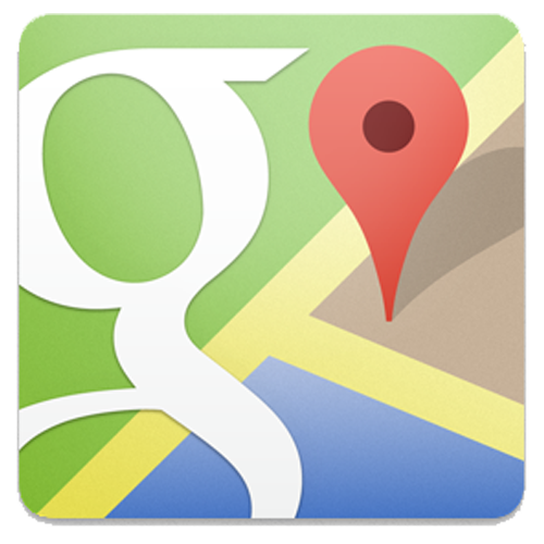 Google Maps for iPhone 5 logo