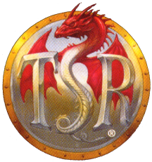 TSR logo used from 1992 to 1999 when Wizards of the Coast stopped using the TSR name