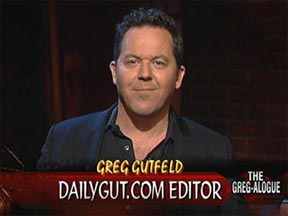 Greg Gutfeld, host, moderator, artist and potential suspect in several crimes.