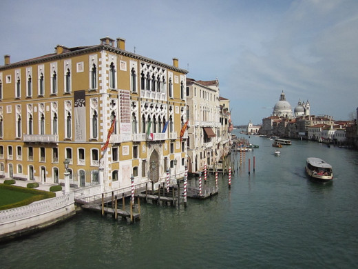 View of Venice from L'Accademia Bridge