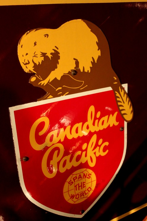 The old logo of the Canadian Pacific Railway