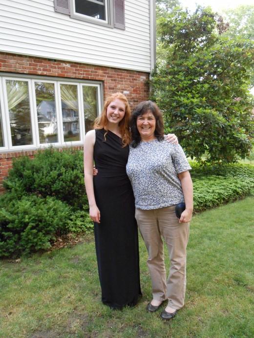 Michaela and Mom before her senior prom!