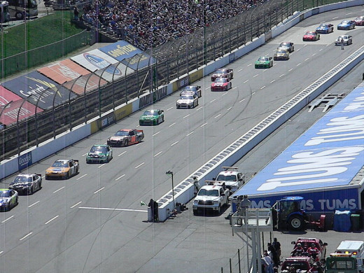 The Backstretch at Martinsville Speedway