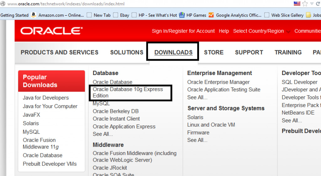 Quick Steps to Install Oracle 10g Express Edition on Windows 32 bit