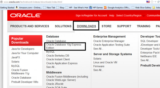 Download from Oracle site