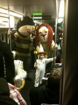 Where The Wild Things Are? On the Boston subway.