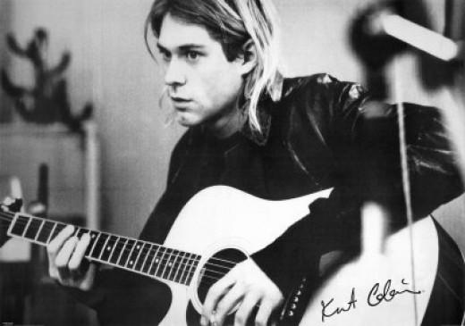 Kurt use Martin acoustic guitars