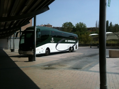 The bus that goes from Madrid to Segovia and back.