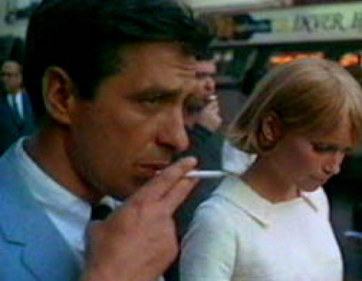 Mia Farrow and John Cassavetes