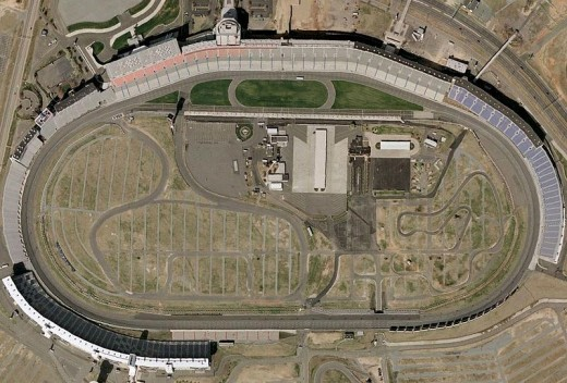 Charlotte Motor Speedway as viewed from space.