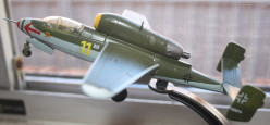 A model of a jet fighter circa 1945. It was meant to be flown by Hitler Youth but it lacked stability.