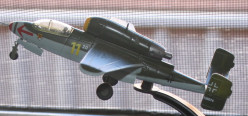 Model of the jet fighter meant for Hitler Youth as shown from a different angle.