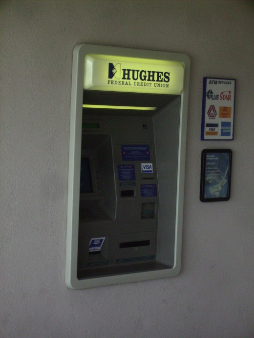 ATM at a Credit Union in suburban Tucson, Arizona