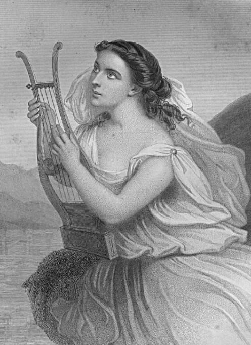 Drawing depicting interpretation of Sappho