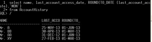 Here, ROUND function rounded the date value to the nearest rounding month value