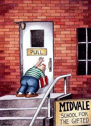 Larson's iconic life of missteps, as illustrated in The Far Side.