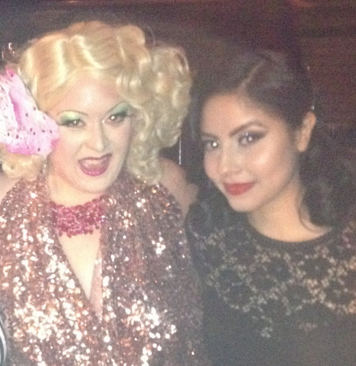 Photo with Dirty Martini, one of the guest performers of the show