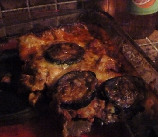 Moussaka is one of my favourite ways of cooking with eggplant.