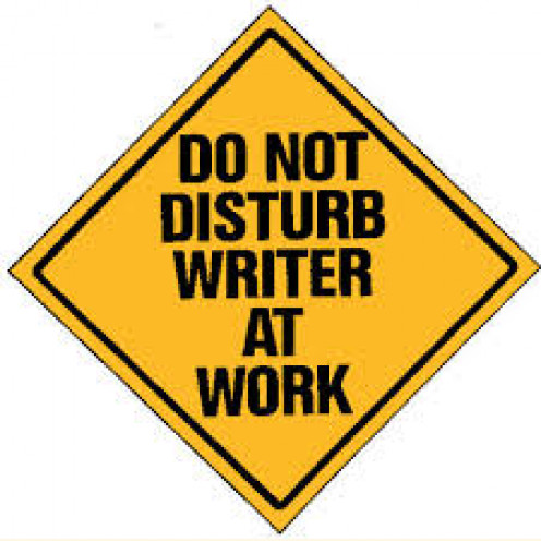 Don't disturb writers