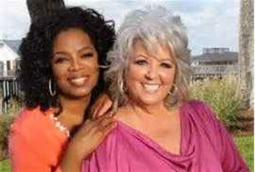 Paula Deen and Oprah Winfrey