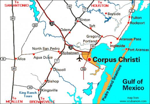 Map of Corpus Christi