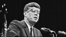 "Imagine JFK today wearing ""Google Glasses"" (TM). Being a huge giant, you see what your 46 inch LED screen would look like mounted on his glasses."