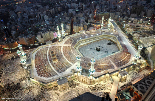 Aerial View of the Holy Kabba