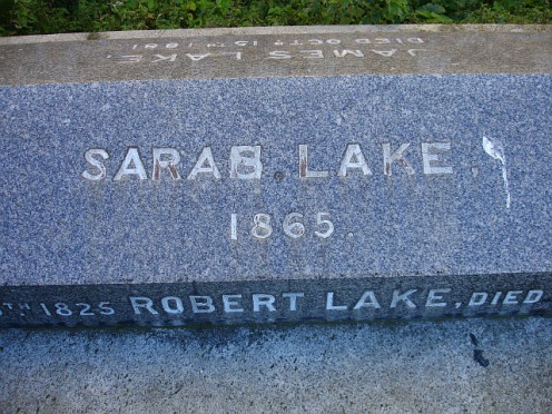 "Typo! The stonemason seems to have made an error on this gravestone and cut ""Saras"" instead of ""Sarah"". He may have managed to cover it to casual inspection at the time but the subsequent 150 years have revealed it for all to see."